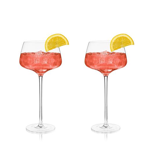 Angled Crystal Amaro Spritz Glasses by Viski®