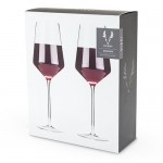 Angled Crystal Bordeaux Glasses by Viski®