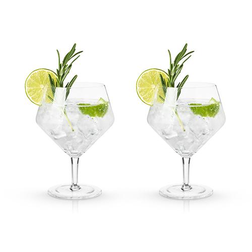 Angled Crystal Gin & Tonic Glasses by Viski®