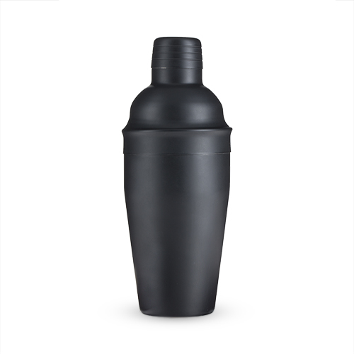 Ash: 18-Ounce Matte Black Cocktail Shaker by True