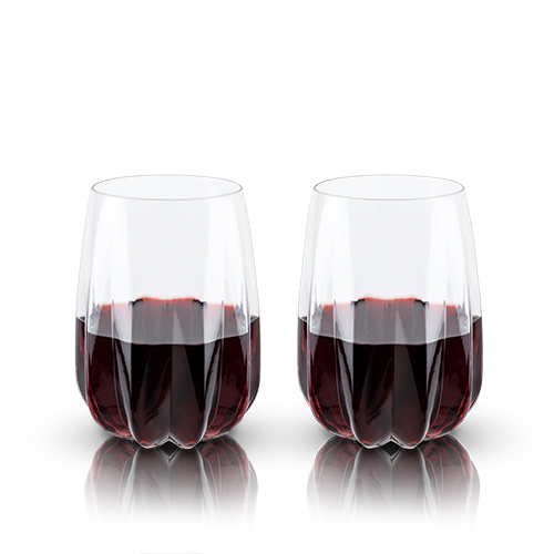 Cactus Crystal Stemless Wine Glasses by Viski®