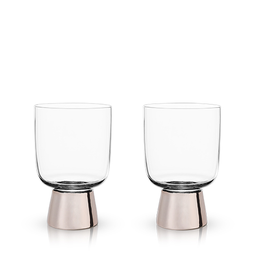 Copper Footed Tumblers by Viski®