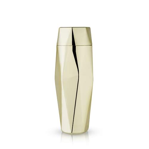 Faceted Gold Cocktail Shaker by Viski®