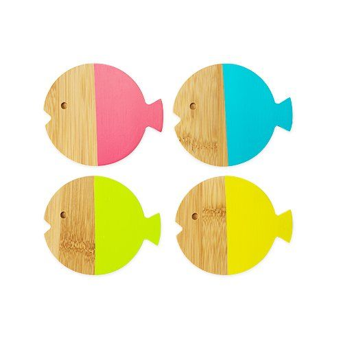 Fish Coasters, Set of 4 by TrueZoo