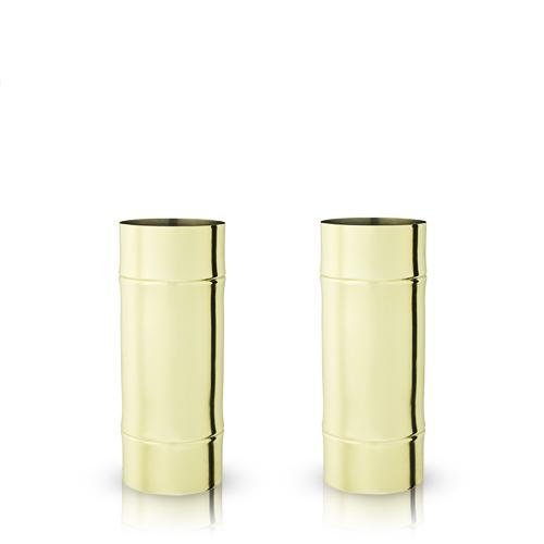 Gold Bamboo Highball Glasses by Viski®