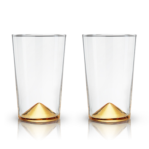 Gold Pointed Cocktail Tumblers by Viski®