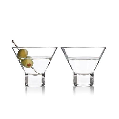 Heavy Base Crystal Martini Glasses by Viski®