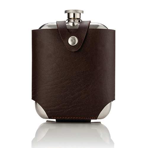 Stainless Steel Flask and Traveling Case by Viski®