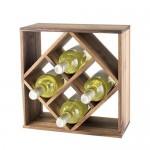 Acacia Wood Lattice Wine Rack by Twine®