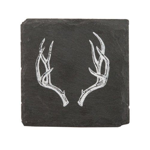 Antler Slate Coasters by Twine®