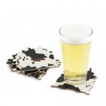 "Cowhide Coaster Set by Foster & Ryeâ""¢"