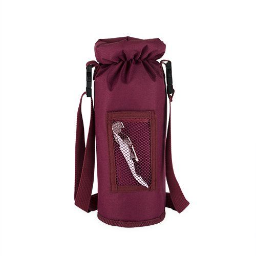Grab & Go Insulated Bottle Carrier in Burgundy by True