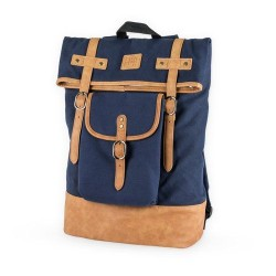 Insulated Canvas Cooler Adventure Backpack in Blue by Foster