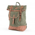 Insulated Canvas Cooler Adventure Backpack in Green by Foster