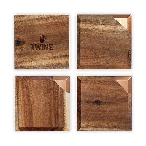 Metallic Dipped Coaster Set by Twine®