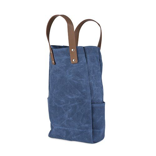 Waxed Canvas Double Bottle Wine Bag by True