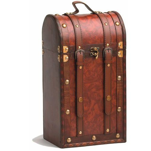 Bottle Antique Wooden Wine Box by Twine®