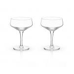 Angled Crystal Coupe Glasses by Viski®