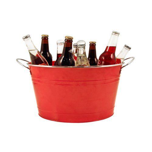Big Red Galvanized Metal Tub by Twine®
