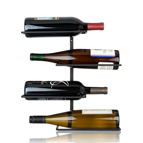 Four Bottle Wall Mounted Wine Rack by True