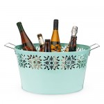 Oslo Teal Galvanized Ice Tub by Twine®