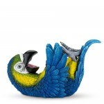 Polyresin Parched Parrot Bottle Holder by True