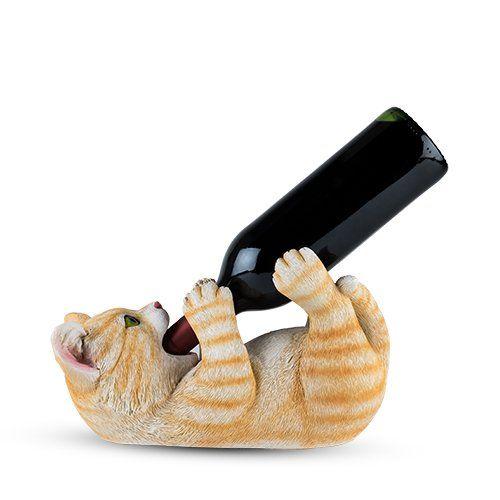 Tippler Tabby Cat Bottle Holder by True