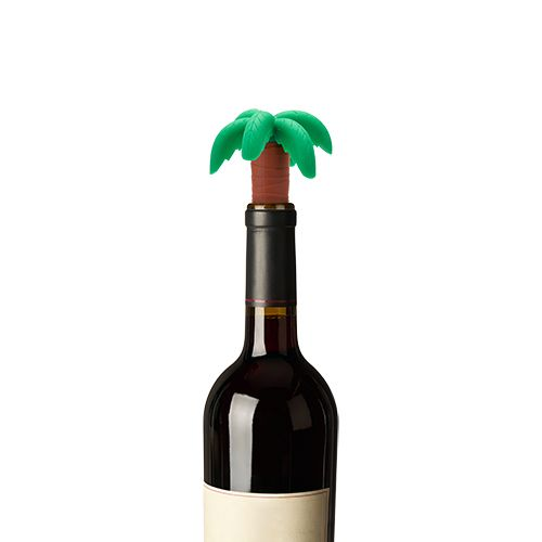 Toucan Drink Charms & Palm Tree Bottle Stopper Set by TrueZo