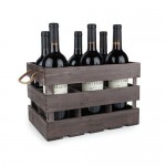 Wooden 6-Bottle Crate by Twine®